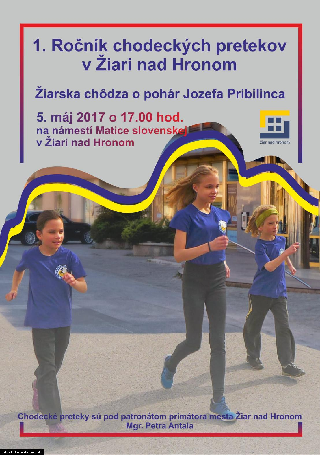 Pozvánka na chodecké preteky v Žiari nad Hronom s olympijskými víťazmi