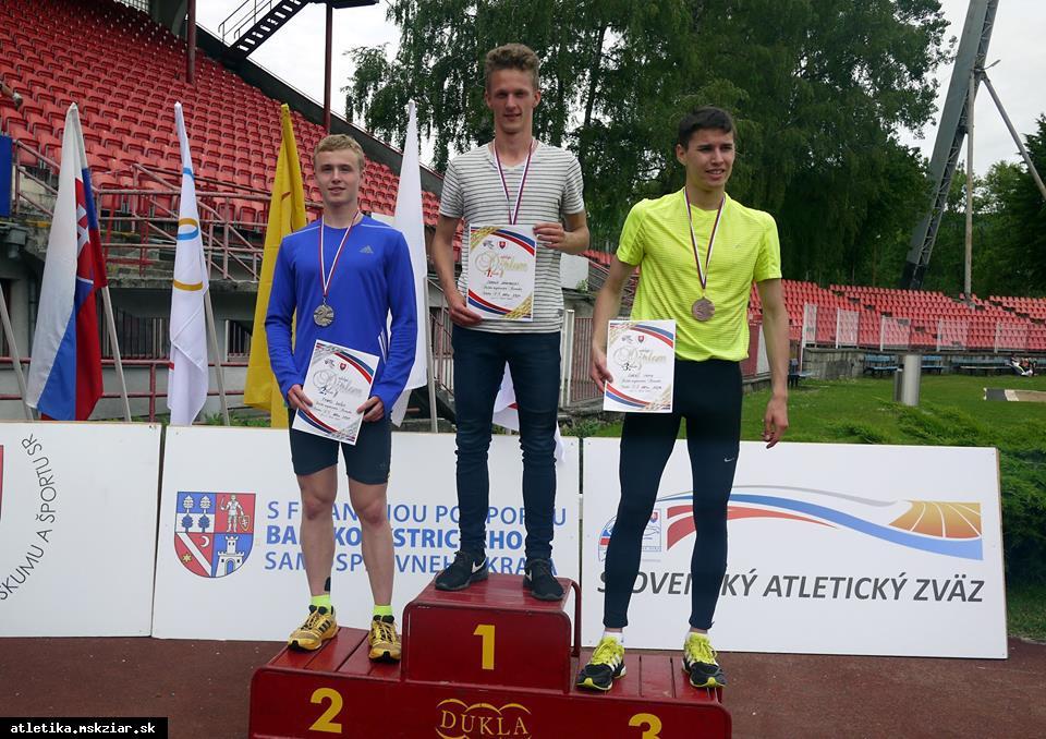 obr: Lukáš Muha  z Majstrovstiev Slovenska stredných škôl doniesol dve medaile