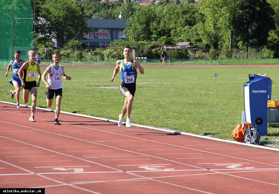 obr: Žiarčan atletickým vicemajstrom na 800m